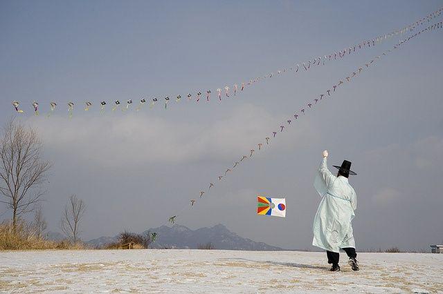 korea kite flying